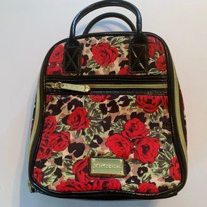 Betsey Johnson Red Rose Floral Insulated Tote